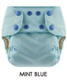 Blueberry One Size Deluxe Snap Diapers (Mint Blue), Health Care Stuffs