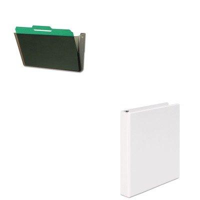 KITDEF73202UNV20962 - Value Kit - Deflect-o DocuPocket Stackable Wall Pocket (DEF73202) and Universal Round Ring Economy Vinyl View Binder (UNV20962) -