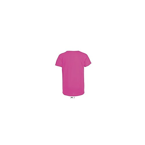 SOL´S Kids Raglan Sleeved T-Shirt Sporty, 10 (130/140), Neon Pink