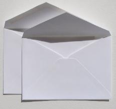 amazon com double wedding invitation envelopes set 50 outer gummed