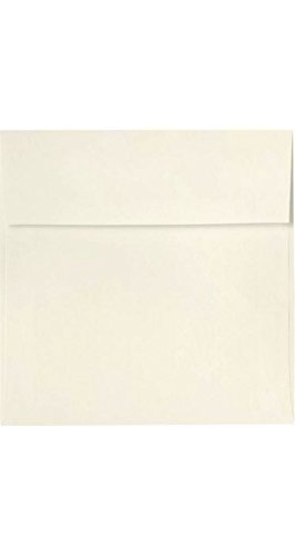 Lux Paper Square Invitation Envelopes For 6 1 4 X 6 1 4 Cards In 80 Lb Natural Linen Printable Envelopes For Invitations With Peel Press Seal 50