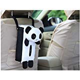 "Cute Cartoon Panda Plush Car Tissue Box Cover w/Strap, Suspension Type(Polyester,7"" by 7.3"") (Panda)"