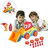 SAYGOGO Take Apart DIY Assembling Bulldozer Toy Stem Toys with Sounds, Lights & Drill Tool Build Your Own Car Kit