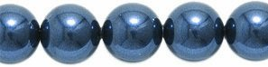 (Swarovski 5810 Crystal Round Pearl Beads, 6mm, Night Blue, 50-Pack)