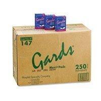 147A Part# 147A - Gards Sanitary Napkin Pad #4 Maxi 250/Ca By Hospital Specialties