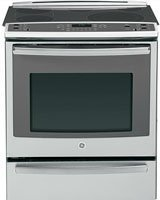 """GE PS920SFSS Profile 30"""" Stainless Steel Electric Slide-In Smoothtop Range - Convection"""