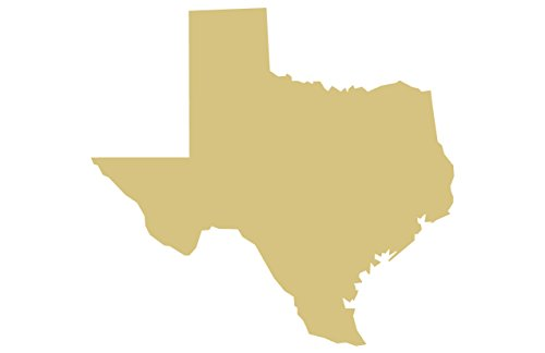 "Texas State Cutout Unfinished Wood Lone Star Alamo Home Decor Dallas Door Hanger MDF Shape Canvas Style 1 (6"")"