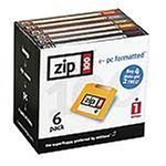Iomega Zip 100 MB PC Formatted Disks (6 pack) 31266