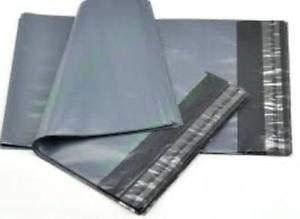 100 Grey Mailer Bags Plastic Postage 250x350