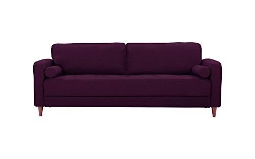 Mid Century Modern Linen Fabric Living Room Sofa (Purple)