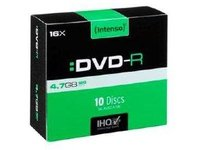 Intenso DVD-R 4.7GB, 16x, 45709