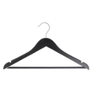 17'' Black Wooden Hanger, Suit, 100 per set by Retail Resource