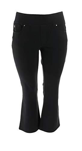 Belle Kim Gravel Petite Flexibelle Boot-Cut Jeans Black 18WP New A311352 from Belle by Kim Gravel