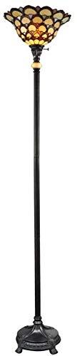 Torchiere Dale Tiffany 1-Light Fieldstone Metal New 3-Way Turn Knob E27