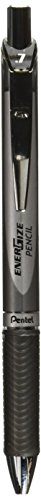 Pentel Mechanical Pencil, Retractable Tip, Latex Rubber Grip, 0.7mm, Black (PL77A)