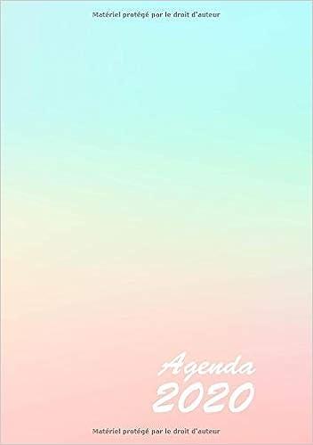 Agenda: Semainier - Petit Format A5 - Pastel Rose Turquoise ...