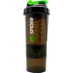 (Spider Bottle Mini 2Go Two Compartment Bottle, Black/Red,)