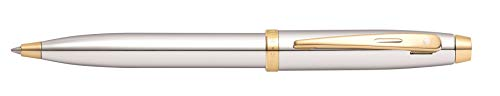 (Sheaffer 100 Chrome With Gold Tone Ballpoint Pen In Gift Box (E2934051-30))