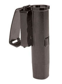 Monadnock 21-26-Inch Friction Lock Front Draw Baton Holder with 45 Degree Swivel Clip-On Basket (Black)