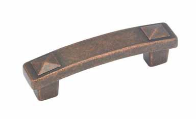 Amerock Ambrosia 96mm Euro Stone Pull Rustic Bronze