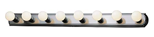 - Racetrack 8 Light Vanity Nickel