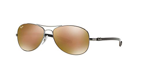 Ray-Ban Mens Carbon Fibre Sunglasses (RB8301) Gunmetal/Brown Metal - Polarized - ()