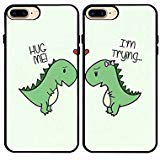 iPhone 7 Plus/iPhone 8 Plus Case,Cartoon Cute Little Dinosaur Couple Lovers Best Friends Forever Rubber Phone Cover Case for iPhone 7 Plus/iPhone 8 Plus 5.5 -