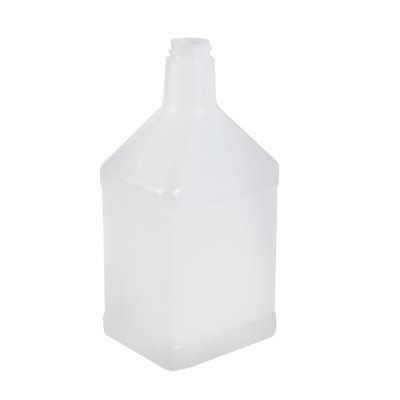 32 oz. Rectangular White High Density Plastic Cone Top Bottle with 28mm with 400 Thread Neck (Cap Sold Separately) (12 Bottles)