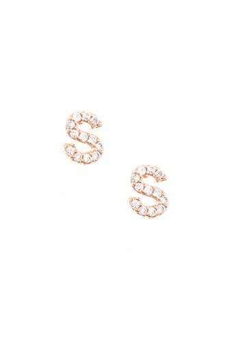 GlitZ Finery CZ Stone Monogram Earring (S)