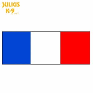 Julius K9 Flag Label for Harnesses, France, Large - France Label