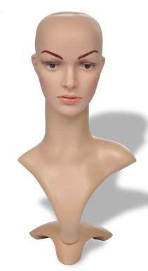 SKB Family Female Mannequin Head Woman A can be Used to Present Any Wig Ornament Hat 3 Assembled Parts Head is Made of Eco-Friendly PEdurable Fiberglass