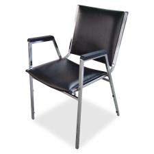 Lorell Stacking Chair with Plastic Arm, 20-3/4