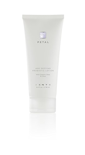 Zents Body and Hand Lotion, Petal, with Organic Shea Butter and Lotus Flower, 6.4 fl oz / 181 millileters (Petal Zents)