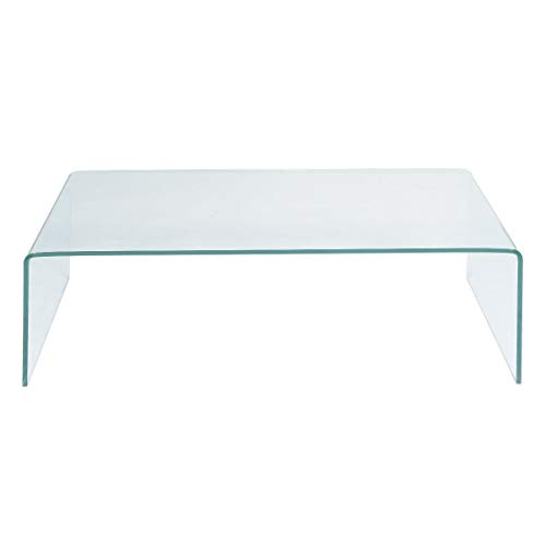 TANGKULA Glass Coffee Table Modern Home Office Furniture Clear Tempered  Glass End Table International Occasion Tea