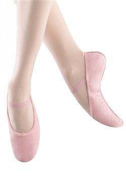 Bloch Women's Bunnyhop Ballet Slipper, Pink Leather, Cotton, Suede, 2.5 C