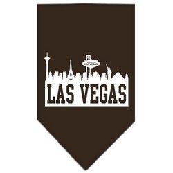 Las Vegas Skyline Screen Print Bandana Cocoa Small by uhsupply.com