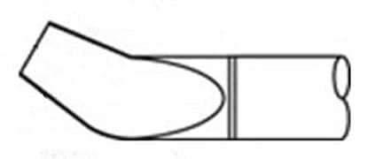 Soldering Irons Tweezer Cart. Bent 30Deg 3.2mm (0.126'') Pack of 1 (745-PTTC-708B)