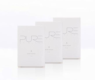 Pure by Gloss Body Bar – Luxurious Cleansing, Purifying & Moisturizing Bar Soap for All Skin Types – Fresh Lemon Scent – 4.0oz, 3 Pack