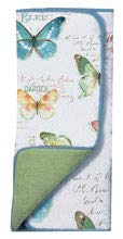 Watercolor Butterflies Kitchen Dish Drying Pad and 3 Flour Sack Towels Bundle Kay Dee Designs