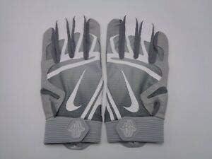 Nike Hurache Pro Batting Gloves Grey Adult Small