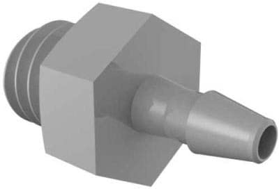 Pack Of 220 Gray Kynar Eldon James 10-32 UNF to 1//16 Barbed Adapter