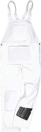 Portwest US810WHRL Regular Fit Bolton Painters Bib, Large, White (Overalls Painters)