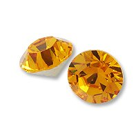 Swarovski Xirius Rose Chaton 1088 3mm Topaz (Package of 10) ()
