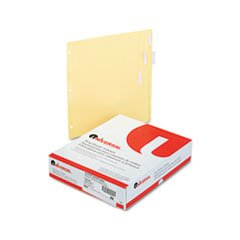 Universal 20831 Economical Insertable Index, Clear Tabs, 5-Tab, Letter, Buff, 24 Sets/Box