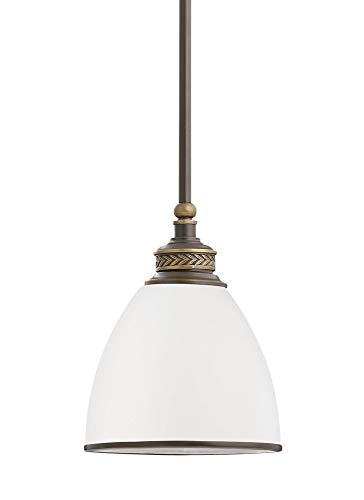 - Sea Gull Lighting 61350EN3-708 One Light Mini-Pendant, Estate Bronze