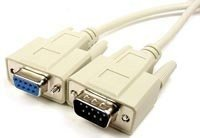 Cable, Serial Extension, DB9 M/F, 15'