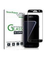 amFilm Protector de Pantalla Galaxy S7 Edge, Cobertura Total (3D Curvo) Cristal Vidrio Templado Protector de Pantalla para Samsung Galaxy S7 Edge (1 Pack, Negro)