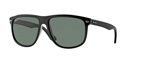 (Ray-Ban RB4147 601/58 60M Black/Green Polarized Sunglasses For Men For)