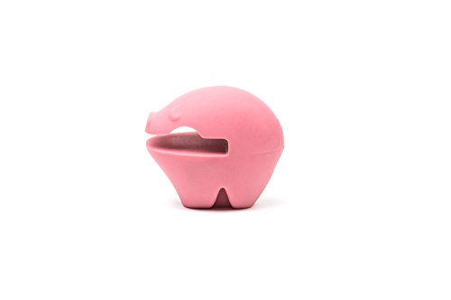 Fox Run 597840-6480 6480 Pig Pot Clip/Spoon Holder, Silicone, One Size, Pink