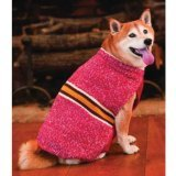 Cheap Fashion Pet Outdoor Dog Rustic Stripe Sweater, Small, Red